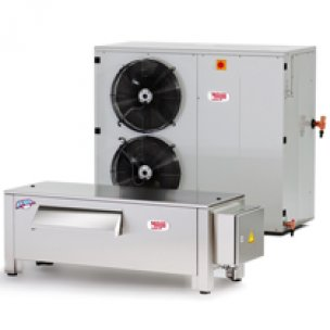 Flake ice machines RVH-LT with separate condensing unit (up to +45°C)